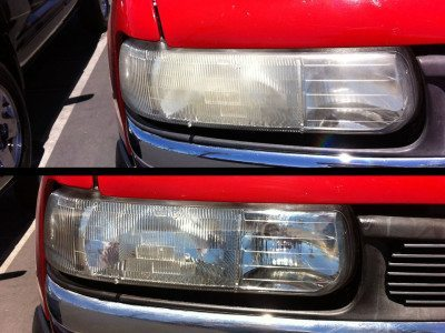 Headlights - before and after